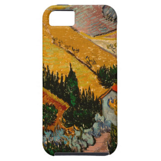 Landscape with House & Ploughman, Vincent Van Gogh iPhone 5 Cases