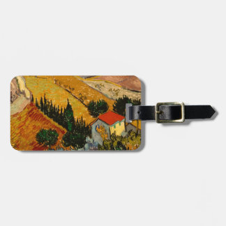 Landscape with House & Ploughman, Vincent Van Gogh Luggage Tag