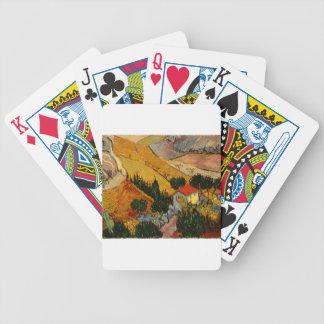 Landscape with House & Ploughman, Vincent Van Gogh Poker Deck