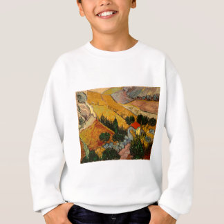 Landscape with House & Ploughman, Vincent Van Gogh Sweatshirt