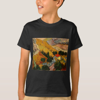 Landscape with House & Ploughman, Vincent Van Gogh T-Shirt