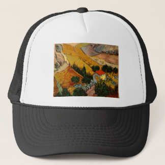 Landscape with House & Ploughman, Vincent Van Gogh Trucker Hat