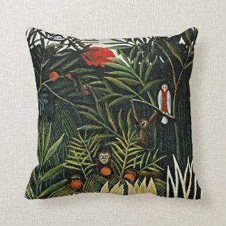 Landscape with Monkeys - Henri Rousseau artwork Cushion