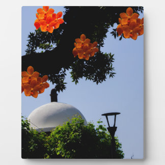 Landscape with orange orchids plaques