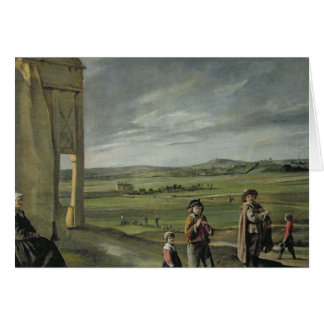 Landscape with Peasants, c.1640 Card