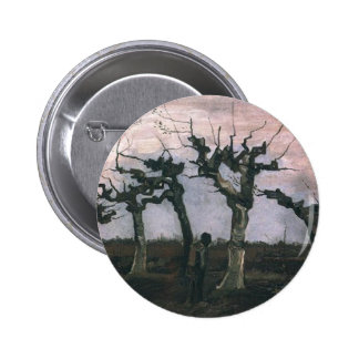 Landscape with Pollard Willows 1883 Pinback Button