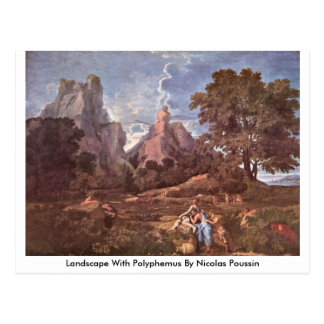 Landscape With Polyphemus By Nicolas Poussin Postcard