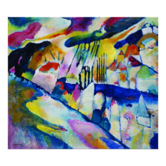 Landscape with Rain by Wassily Kandinsky Poster