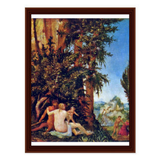 Landscape With Satyrfamilie By Altdorfer, Albrecht Postcard