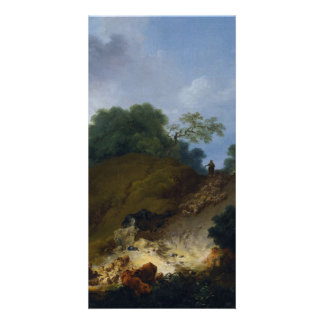 Landscape with Shepherds by Fragonard Photo Cards