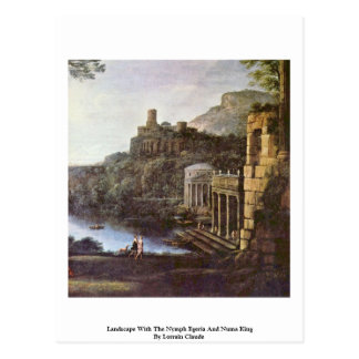 Landscape With The Nymph Egeria And Numa King Postcard