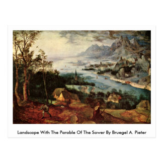 Landscape With The Parable Of The Sower By Bruegel Postcard