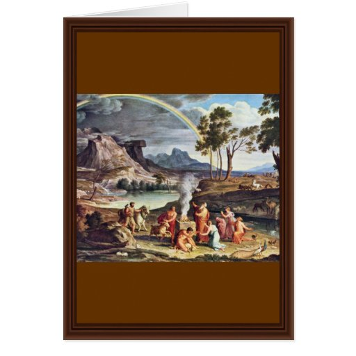 Landscape With The Peace Offerings Of Noah By Koc Cards