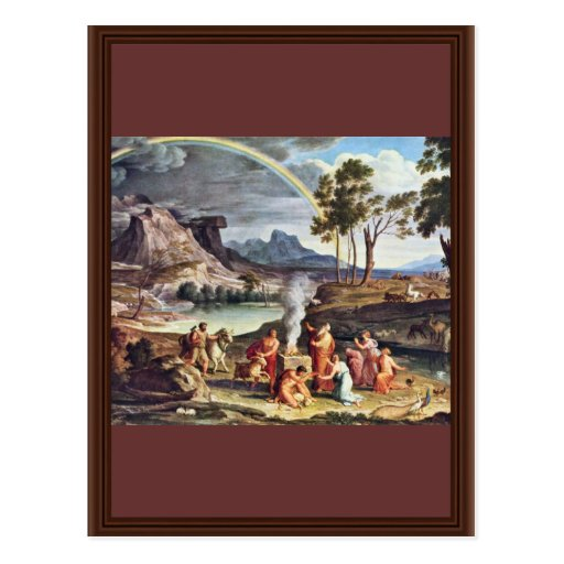 Landscape With The Peace Offerings Of Noah By Koc Post Cards