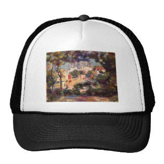 Landscape with the view of Sacre Coeur by Renoir Trucker Hats