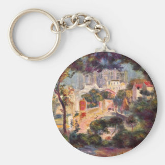 Landscape with the view of Sacre Coeur by Renoir Keychains