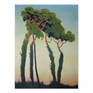 Landscape with Trees, 1911 Poster