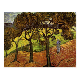 Landscape with Trees and Figures by van Gogh Postcard