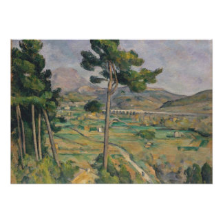 Landscape with viaduct poster