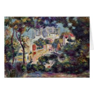 "Landscape With View Of Sacré-C? ""Ur Greeting Card"