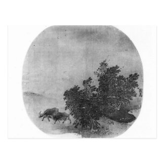 Landscape with water buffalo, Song Dynasty Postcard