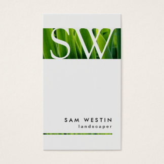 Landscaper Bold Monogram Business Card