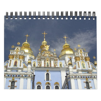 Landscapes and buildings wall calendar