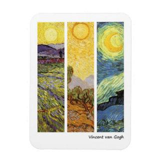 Landscapes by Vincent van Gogh Rectangular Magnets