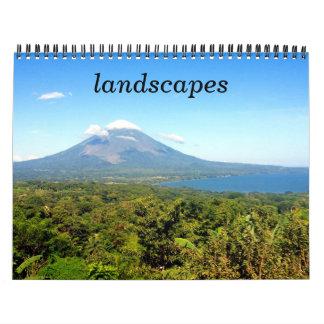 landscapes wall calendars