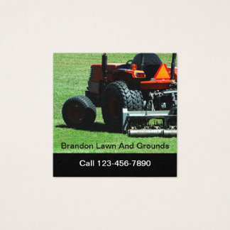 Landscaping And Property Management Square Business Card
