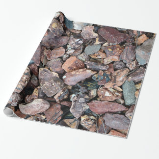 Landscaping Lava Rock Rubble and Stones Wrapping Paper