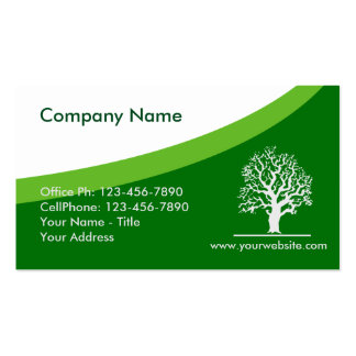 Landscaping Lawn Care Gardener Tree Pack Of Standard Business Cards