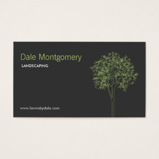 Landscaping, Lawn Care, Trees, Gardener Business Card