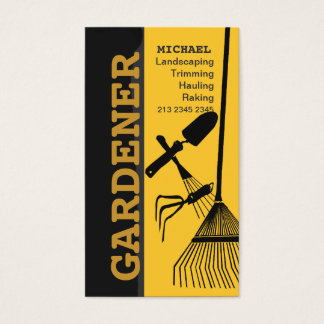 Landscaping Lawn Gardening Lawn Care Business Card