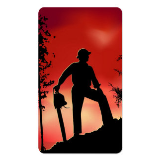 Landscaping Worker Business Card Templates