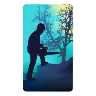 Landscaping Worker Pack Of Standard Business Cards