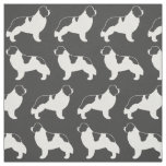 Landseer Newfoundland Dog Pattern Fabric