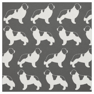 Landseer Newfoundland Dog Pattern Fabric