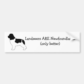 Landseers ARE Newfoundlands. Bumper Sticker