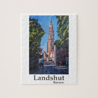 Landshut inBavaria with St Martin church Jigsaw Puzzle