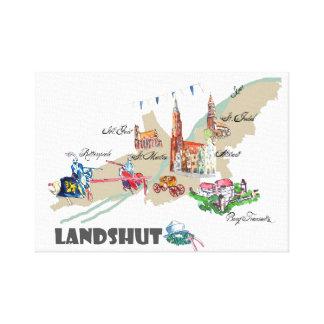 Landshut object of interest canvas print