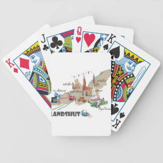 Landshut objects of interest bicycle playing cards