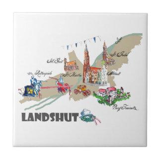 Landshut objects of interest ceramic tile