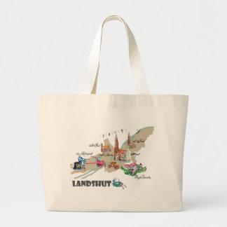 Landshut objects of interest large tote bag