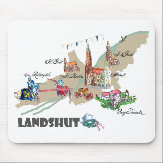 Landshut objects of interest mouse pad