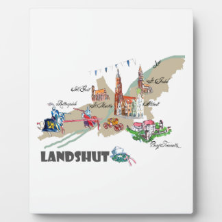 Landshut objects of interest plaque