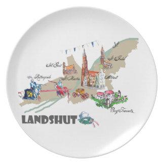 Landshut objects of interest plate