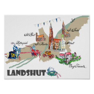 Landshut objects of interest poster