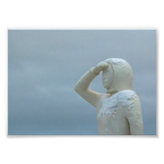 Landsýn - Land in Sight Sculpture Iceland Photo Print