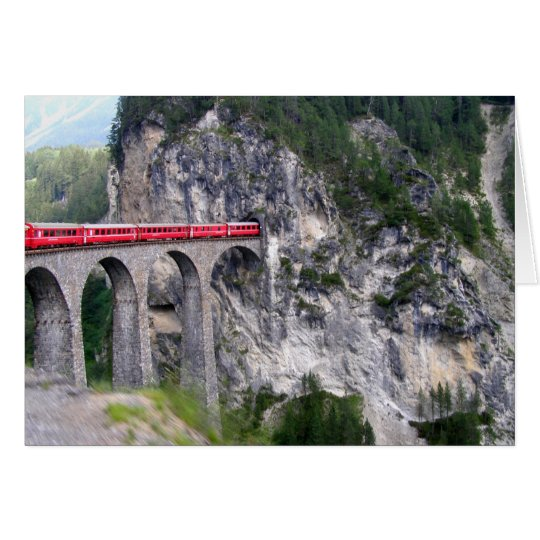 Landwasser Viaduct Card